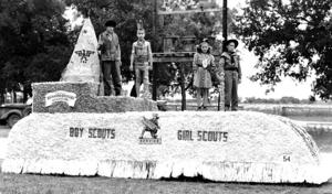 Boy Scout and Girl Scout float