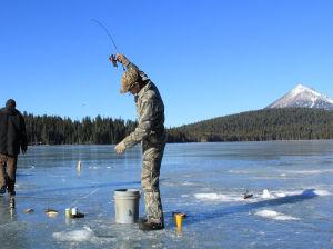 Ice fishing at lake of the woods klamath herald and news for Lake of the woods ice fishing
