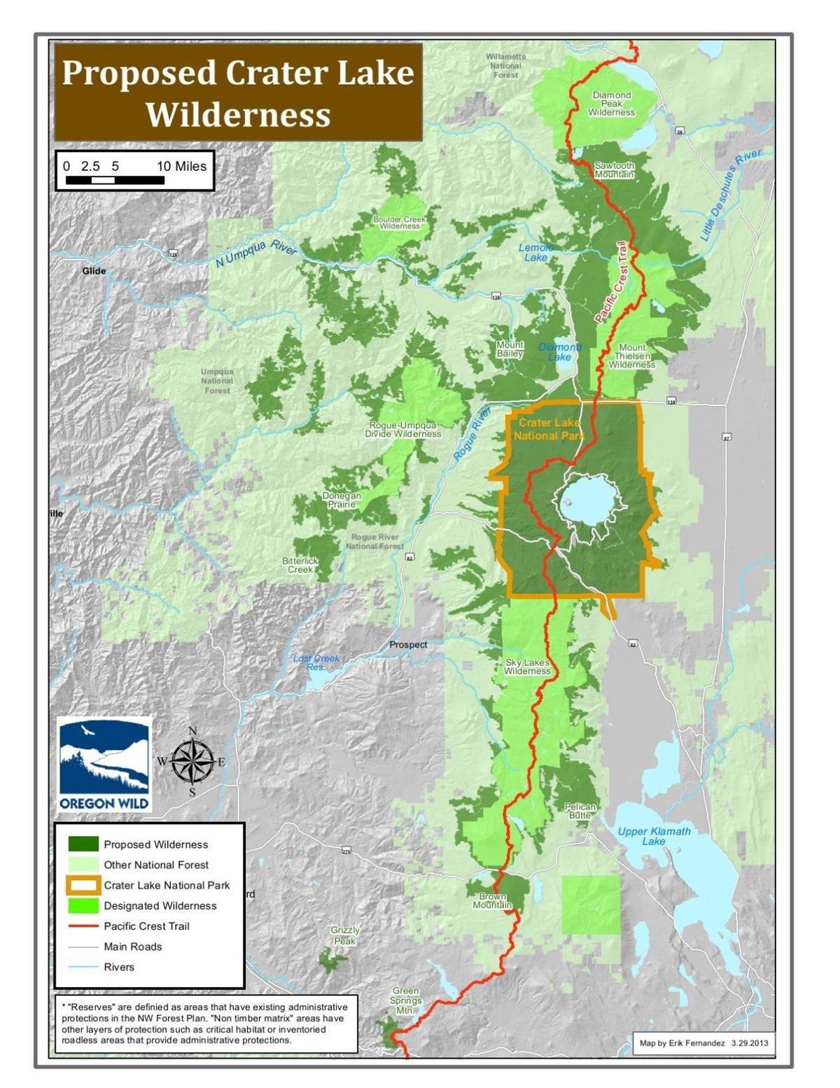 Proposed Crater Lake Wilderness