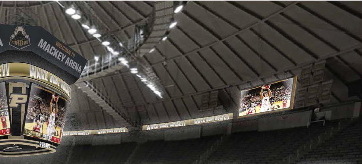Purdue Announces Upgrades To Video Boards At Mackey Arena