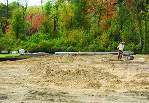 <p>Construction continues Thursday at the new Berrien County Animal Control center behind the new Health Department building. County commissioners have been debating animal control policies, and have decided to continue current practices.</p>