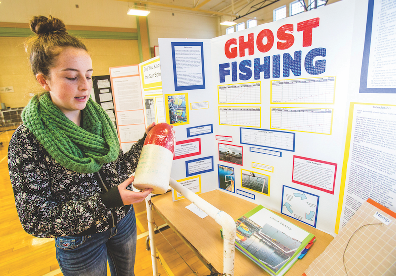 coastside girls represent schools at state fair local On fishing science fair projects