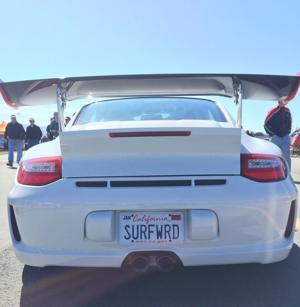<p>The Pacific Coast Dream Machines were on display all day Sunday at the Half Moon Bay Airport. Clay Lambert / Review</p>