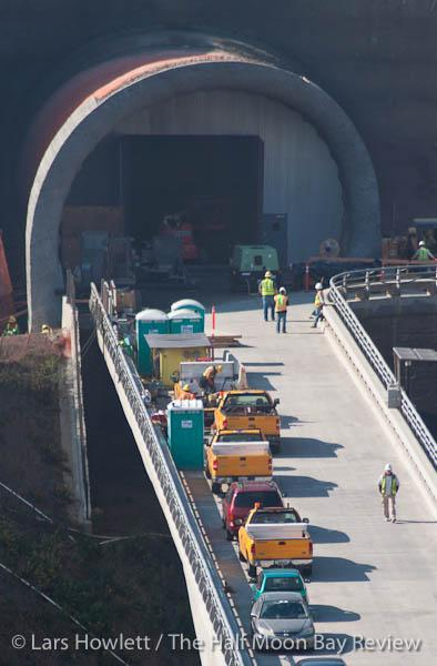 Workers break through tunnel preemptively