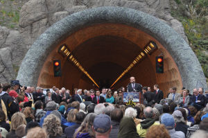 Tunnel opening ceremony