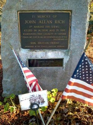 John Allan Rich's memorial marker