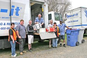 Identity theft prevention shred event at Spence Farm