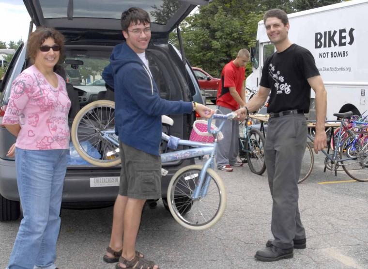 Bikes Not Bombs Donation Bikes donated will be