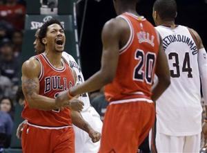 Video: Bulls beat Bucks in double overtime