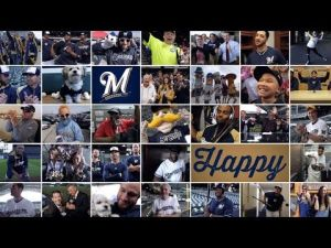Scott Walker dances in Brewers 'Happy' rendition