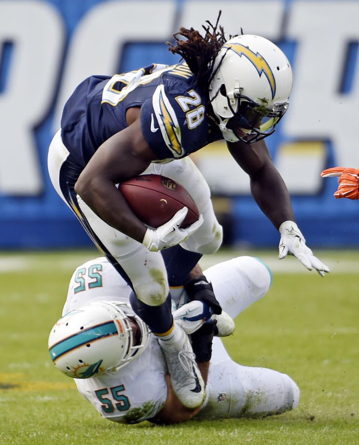 Nfl San Diego Chargers Place Running Back Melvin Gordon
