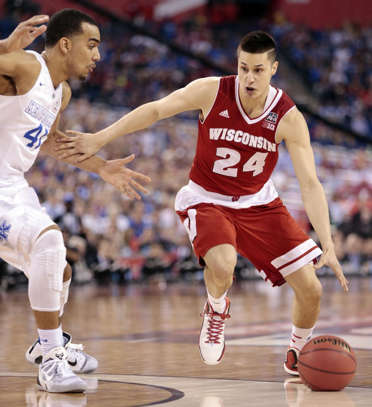 badgers men s basketball uw will play georgetown in 2k classic bronson koenig photo