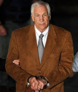 ... Pa., on Friday night after being found guilty in his sexual abuse trial.