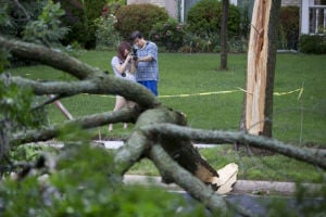'Not again': New line of storms brings damage to new areas