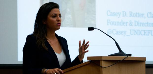 UW-Madison alumna, UNICEF fundraiser speaks to students about the importance of charity