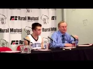 Mineral Point's Sy Staver and coach Dan Burreson react to WIAA Div. 4 state runner-up finish
