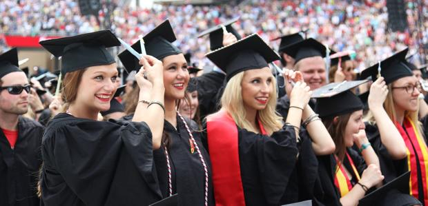 Katie Couric champions public education at Spring Commencement