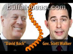 Walker pranked by caller posing as billionaire donor David Koch