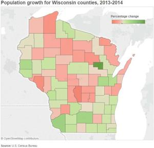 Dane County municipalities produce some of state's largest population growth in 2014