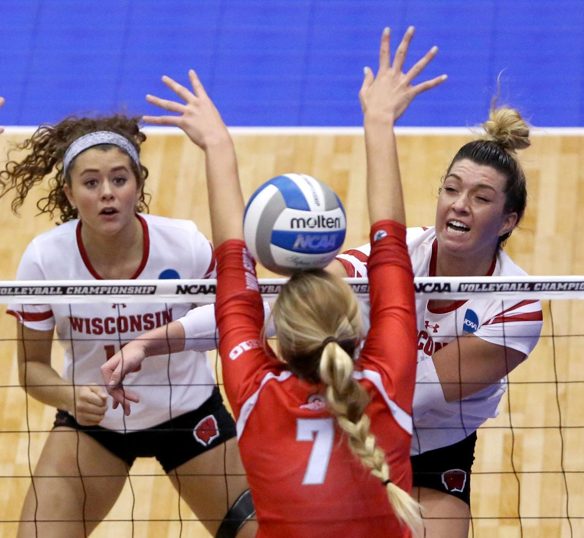 Photos: Wisconsin defeats Ohio State in Sweet 16 of NCAA volleyball tournament   College ...