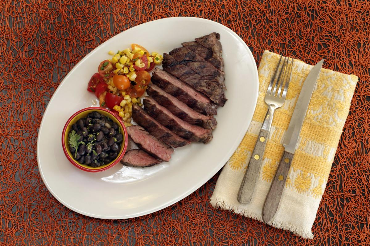 ... Serve the beans with grilled skirt steak and a corn and tomato salsa
