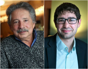 Madison homeless people question mayoral candidates Paul Soglin, Scott Resnick