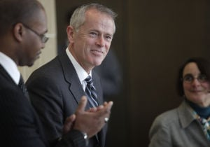 Blizzard of activity keeps chancellor candidate Nicholas Jones busy in UW visit