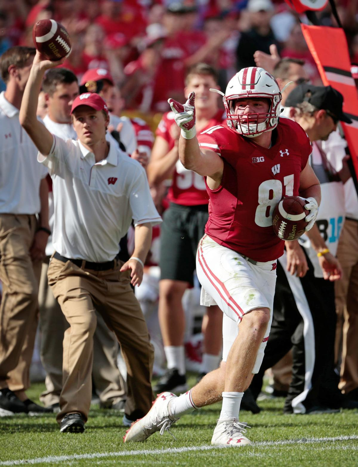 badgers football career day by tight end troy fumagalli sparks fumagalli cover photo