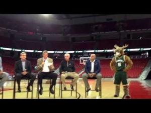 Video: Bucks, UW officials announce plans for NBA team to train, play exhibition game in Madison
