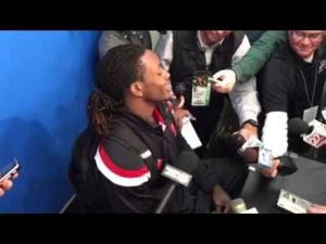 Video: Badgers TB Melvin Gordon enjoys being on receiving end of another big game
