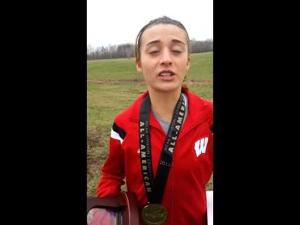 Video: Badgers sophomore Sarah Disanza talks about her NCAA runner-up finish