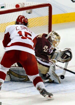 Craig Smith playing with the Wisconsin Badgers in the 2010-2011 season