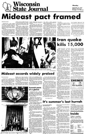 Pages from history Sep. 18, 1978