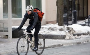 Photos: Biking in the frigid cold