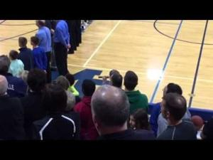 Video: Fifth-grader Jazmine Cool, 11, sings National Anthem before Mineral Point/Cuba City game