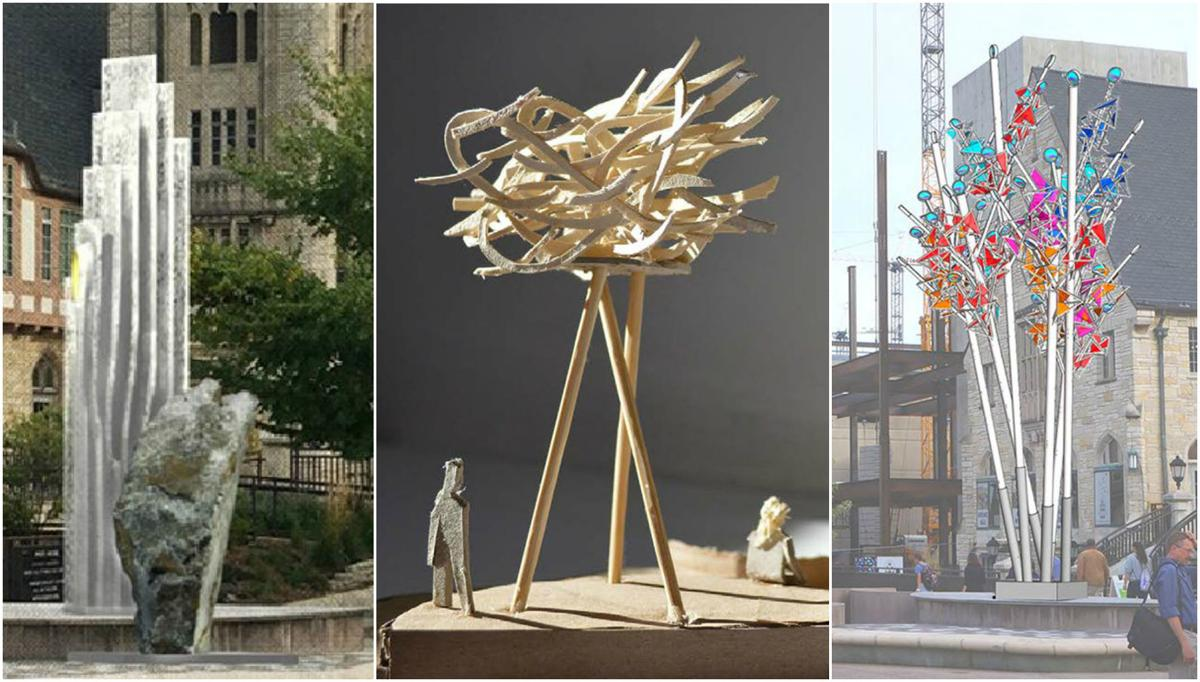 Library mall looking for a replacement sculpture after for Jardin madison menu