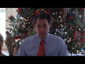 Gov. Scott Walker talks of 2014 run, raps foes' agenda