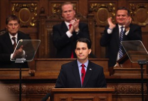 Jobs in focus as defiant Walker delivers State of the State speech