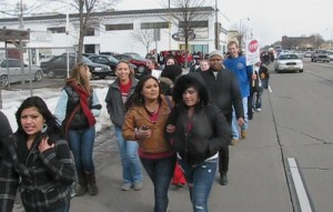 Hundreds of East High students leave school in protest of Walker proposal