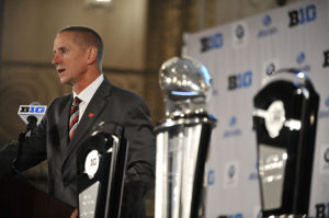 Photos: Coaches, players meet the press at B1G football media days
