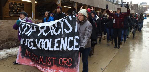 Madison students, residents rally following grand jury decision in Ferguson shooting