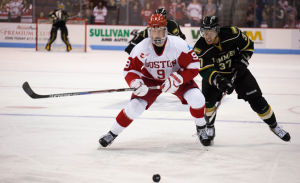 NCAA: Badgers - Talented Freshmen Cameron Hughes (who Knew), Jack Eichel Face Off