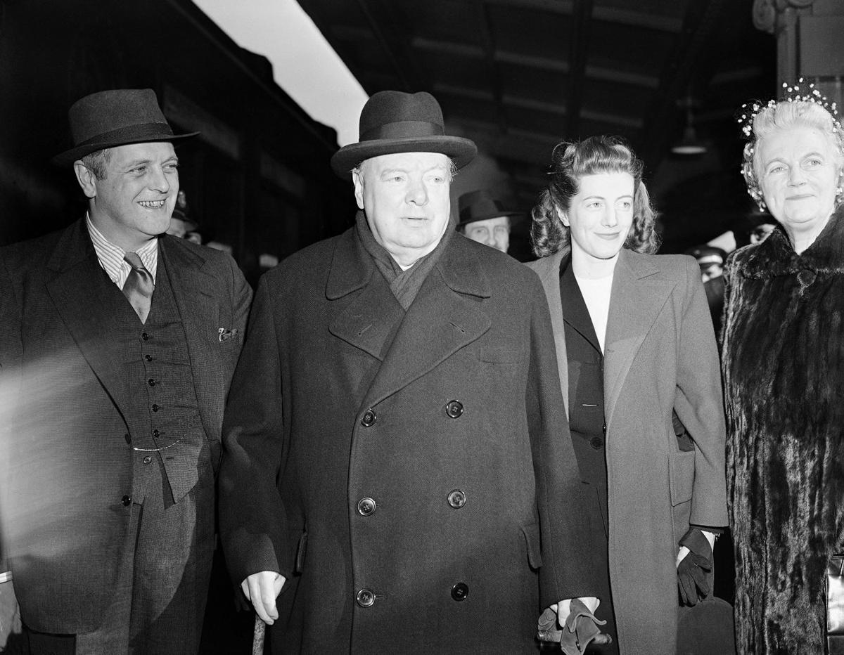 Iron curtain speech - Winston Churchill Clementine Churchill Sarah Oliver Randolph Churchill