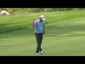 Video: Jerry Kelly fights through pain for a closing eagle at Deutsche Bank