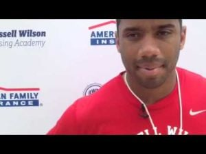 Former Badgers QB Russell Wilson talks about the growth of his Passing Academy