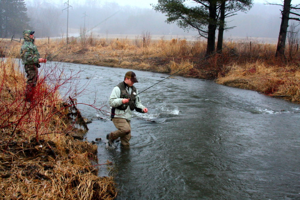 Jerry davis wisconsin can be a destination for trout for Trout fishing wisconsin
