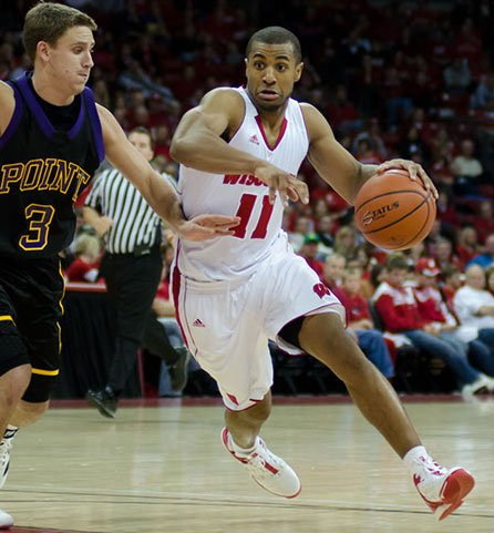 Jordan Taylor, UW men's basketball vs. UW-Stevens Point