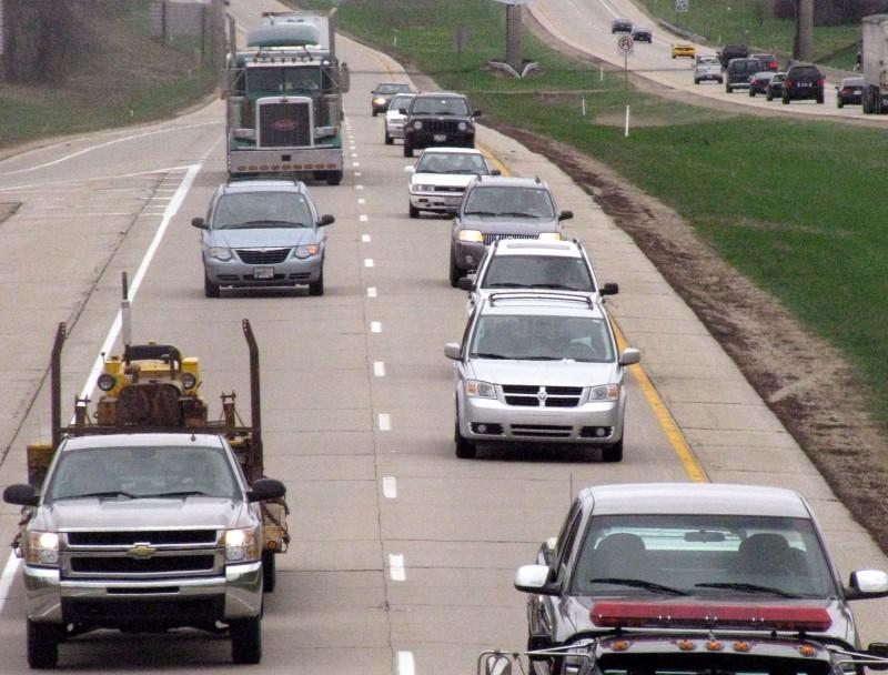traffic on I-39 at highway N
