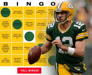 Packers game day BINGO