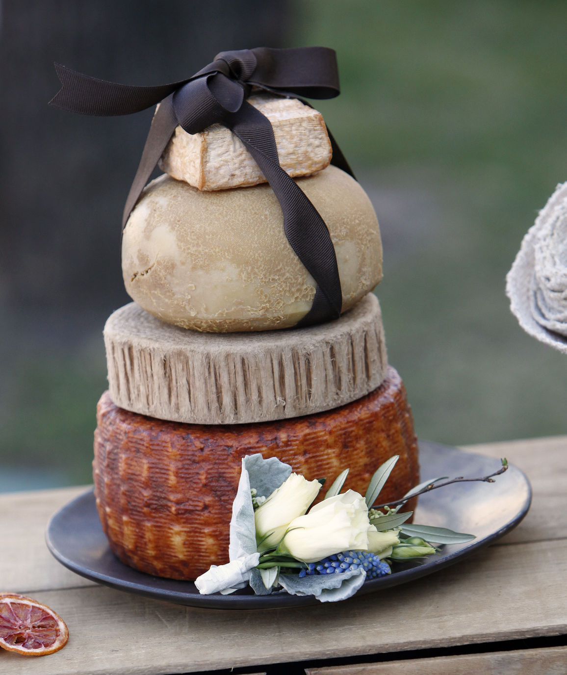Will you dairy me Cheese wheel wedding cakes a hit